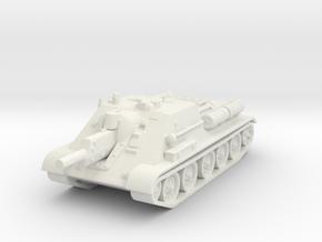 SU-122 Tank 1/120 in White Natural Versatile Plastic