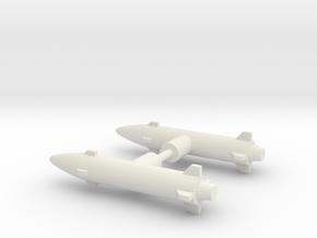 Photon Sled Missiles in White Natural Versatile Plastic: Medium