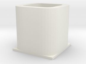 Collection box in White Natural Versatile Plastic