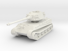 Tiger II H (no Skirts) 1/144 in White Natural Versatile Plastic