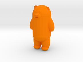bear in Orange Processed Versatile Plastic