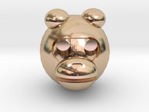 MONKEY in 14k Rose Gold Plated Brass