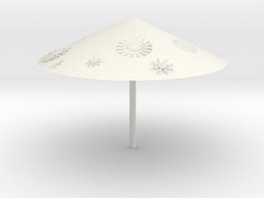 Snowflakes flying(umbrella) in White Natural Versatile Plastic