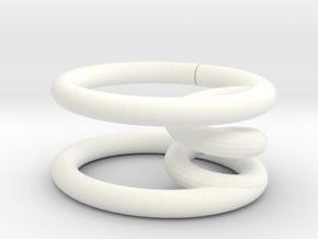 彈簧杯墊 Spring coaster in White Processed Versatile Plastic