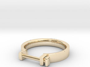 Cowboy Shackle Ring - Sz. 5 in 14K Gold