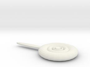 Lollipop pillow in White Natural Versatile Plastic