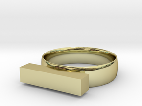 Subtraction Ring in 18K Yellow Gold