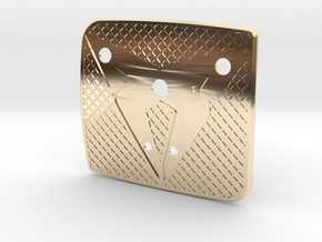 """Facelift Cupra Front """"S"""" Badge - Back Part Texture in 14K Yellow Gold"""