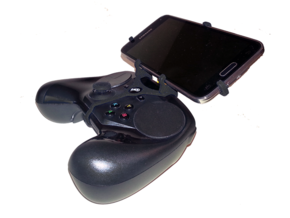 Controller mount for Steam & vivo X30 Pro - Front in Black Natural Versatile Plastic