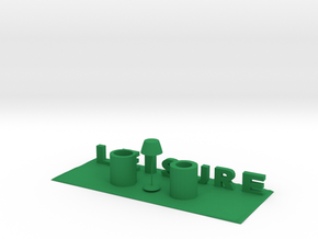 Leisure pen holder in Green Processed Versatile Plastic