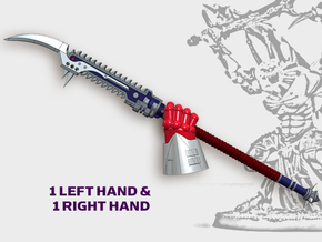 2x Nightmare Spears - Demon Lord Weapons (L&R) in Smooth Fine Detail Plastic