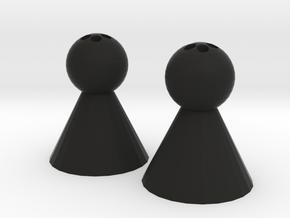 Happy Enemy in Black Natural Versatile Plastic