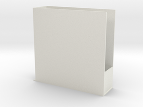 Window L-shaped bookshelf in White Natural Versatile Plastic