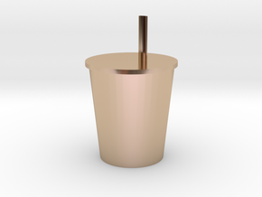 Hand shake drink in 14k Rose Gold: Extra Large
