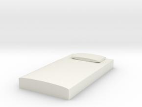 Miniature bed in White Natural Versatile Plastic: Medium