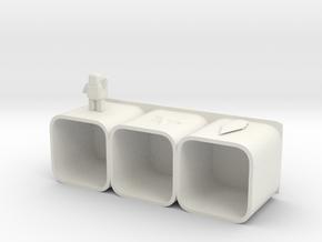 Miniature cabinet in White Natural Versatile Plastic: Medium