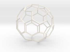 Soccer Ball - wireframe in White Natural Versatile Plastic