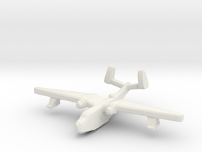 US Martin PBM5 Mariner seaplane bomber 1:1250 WW2 in White Natural Versatile Plastic