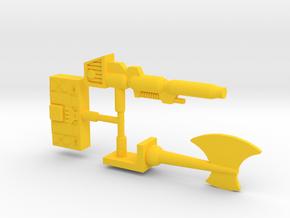 Optimus Prime Action Master Kit in Yellow Processed Versatile Plastic