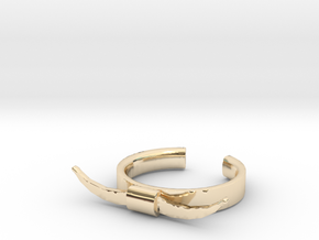 Bull Horn Ring (9) in 14K Gold