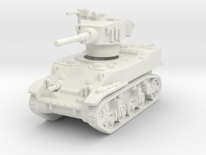M5A1 Stuart 1/87 in White Natural Versatile Plastic