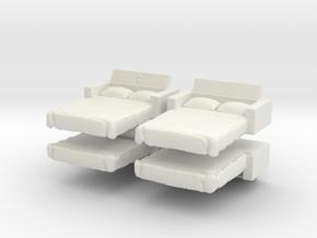 Sofa Bed (x4) 1/120 in White Natural Versatile Plastic