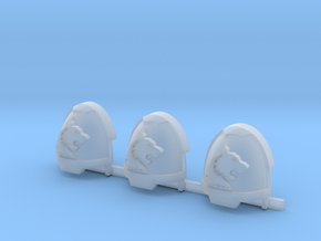 White Panthers Gravus Shoulder Pads R #1 in Smooth Fine Detail Plastic