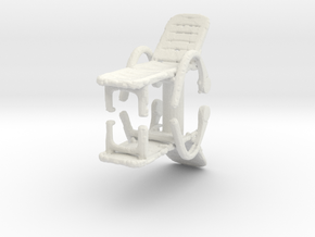 Deck Chair (x2) 1/56 in White Natural Versatile Plastic