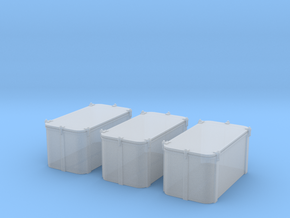 1/96 Cecil Superstructure6 Ammo Lockers 40mm Set in Smooth Fine Detail Plastic