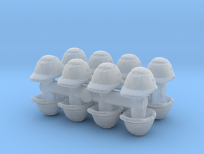 Safety Helmet (x16) 1/100 in Smooth Fine Detail Plastic