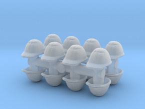 Safety Helmet (x16) 1/76 in Smooth Fine Detail Plastic