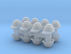Safety Helmet (x16) 1/72 in Smooth Fine Detail Plastic