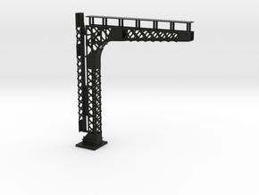 C&O Standard Cantilevered Signal Bridge in Black Premium Versatile Plastic