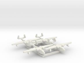 4pk Martin PBM5 Mariner seaplane bomber 1:1200 WW2 in White Natural Versatile Plastic