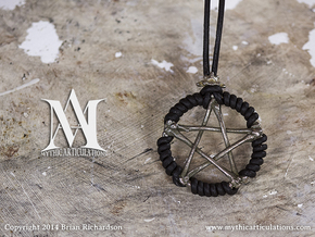 Bone Pentacle in Polished Bronzed Silver Steel