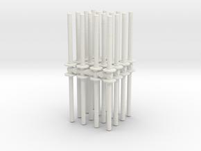 Traffic Pylon (x32) 1/48 in White Natural Versatile Plastic