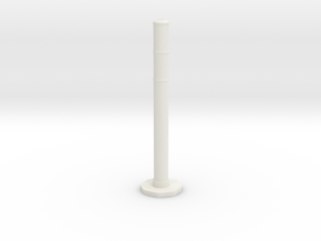 Traffic Pylon 1/12 in White Natural Versatile Plastic