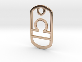 Libra in 14k Rose Gold Plated Brass