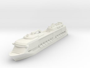 Miniature Ovation of the Seas Ship - 12.5cm in White Natural Versatile Plastic