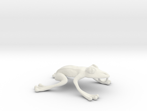 Frog Necklace in White Natural Versatile Plastic