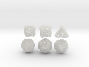 Loops Dice in Smooth Fine Detail Plastic
