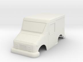 USPS Mail Truck MiniZ 90mm in White Natural Versatile Plastic