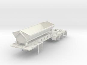 000673 Side dumper A Trailer 3a HO in White Natural Versatile Plastic: 1:87 - HO