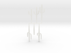 Z Scale Saguaro Collection 01 in Smooth Fine Detail Plastic
