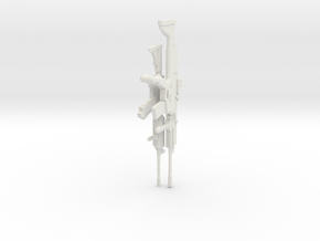 1:16 Miniature Colt M4A1 Carbine & FN Scar in White Natural Versatile Plastic: 1:16
