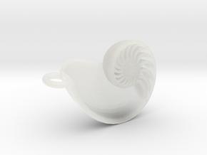 Nautilus Pendant (Small) in Smooth Fine Detail Plastic