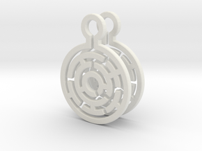 Maze Earrings in White Natural Versatile Plastic