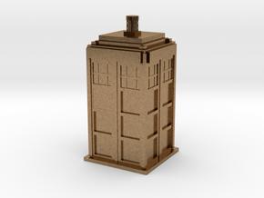 Police Box (TARDIS) in Natural Brass