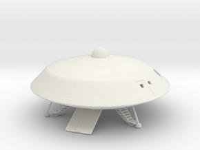 Lost in Space Jupiter 2 with Chariot Ramp in White Premium Versatile Plastic