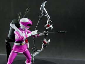 MMPR COMICS:  Bow Of Darkness in White Natural Versatile Plastic